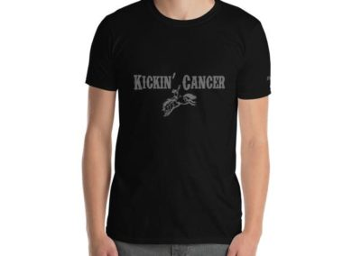 Kickin' Cancer Black T-shirt on male front view