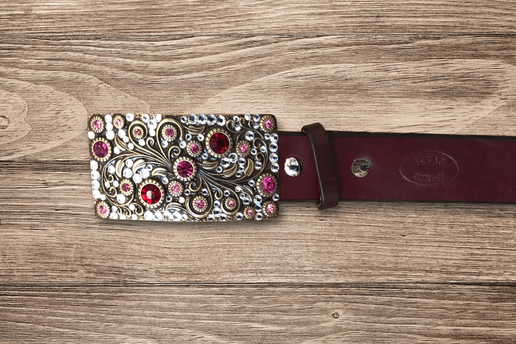 Ladies Burgundy Belt